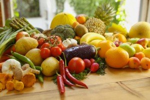Variety of fruits and vegetables --- Image by © Felix Wirth/Corbis