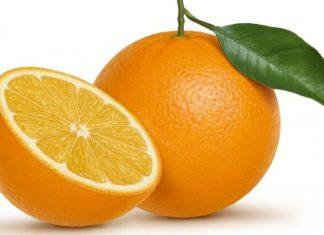 Dos naranjas de unos 100 gramos posee alrededor de 60 a 100 calorías