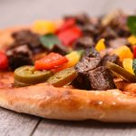 pizza saludable de coliflor