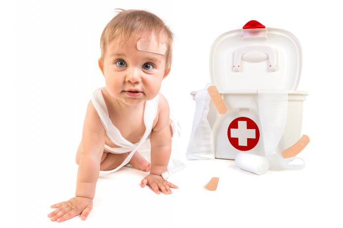 Primeros auxilios para bebés: Herida incisa y contusa