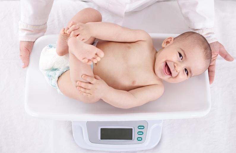 Desarrollo del bebé: Tabla de peso