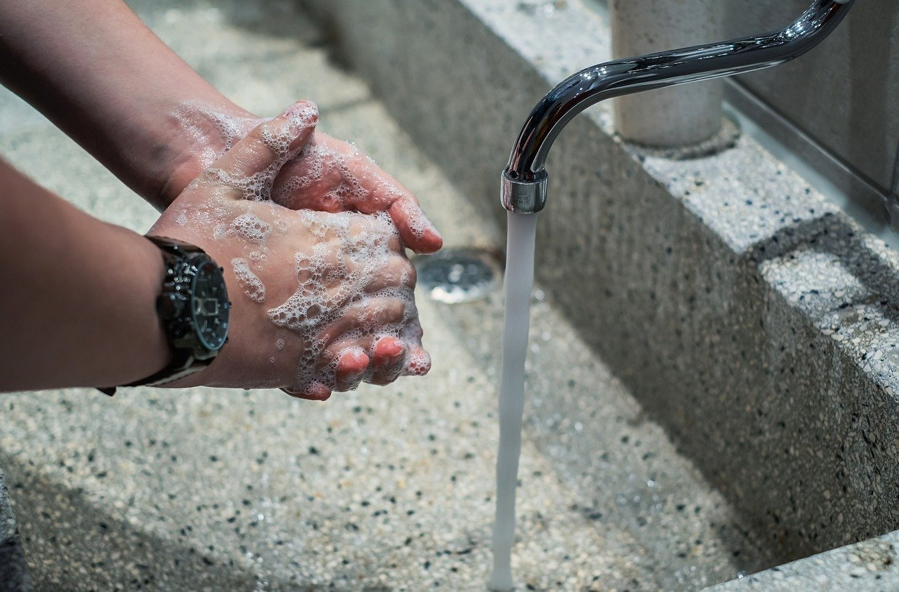 contagio del coronavirus, lavado de manos